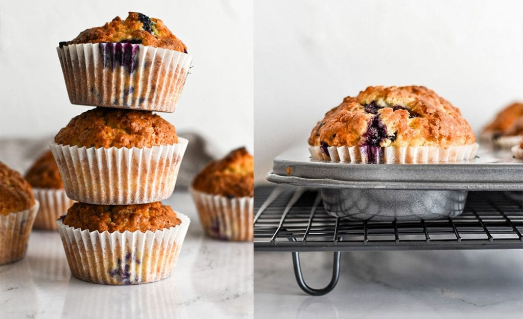 muffins de arándanos EOS