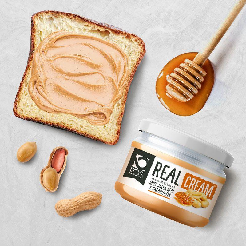 Real Cream Cacahuete, miel y jalea real